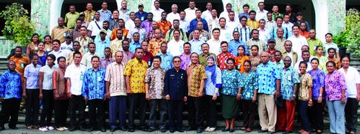 Sebagai fasilitator pada Lokakarya Teknis Penyusunan Renstra seluruh SKPD Kabupaten Tambrauw